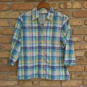 Alfred Dunner Plaid Top